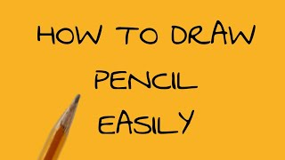 HOW TO DRAW PENCILL EASLIY:)초간…