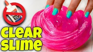1 INGREDIENT / INSTANT CLEAR SLIME RECIPE TESTING! 5 CLEAR SLIMES!