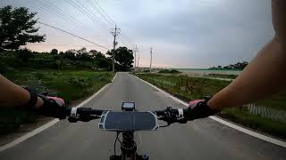 자전거 라이딩(고프로8) 멋진 저녁 노을