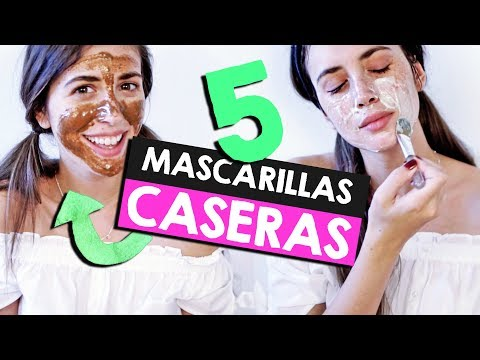 5 Mascarillas NATURALES para la Cara! (Acné, Piel Seca, Grasa...)