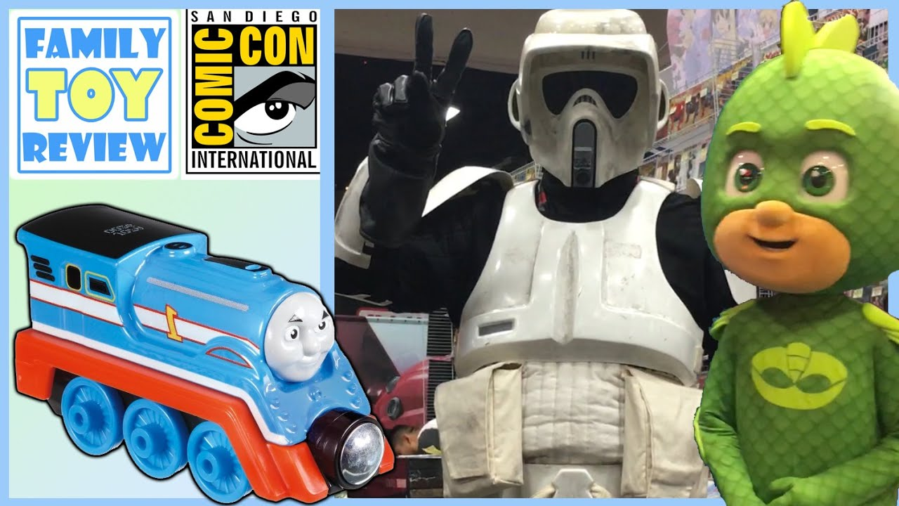 SDCC San Diego COMIC CON Tour with Thomas & Friends Trains Minis & Cosplay Superheroes - 201