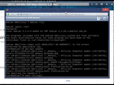 Tutorial install proxmox on debian 7 wheezy full setting