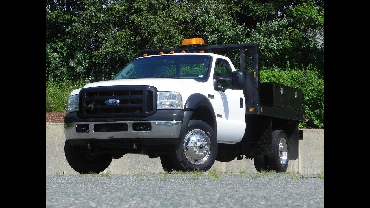2006 ford f 450 xl flat bed 6 0l powerstroke turbo diesel