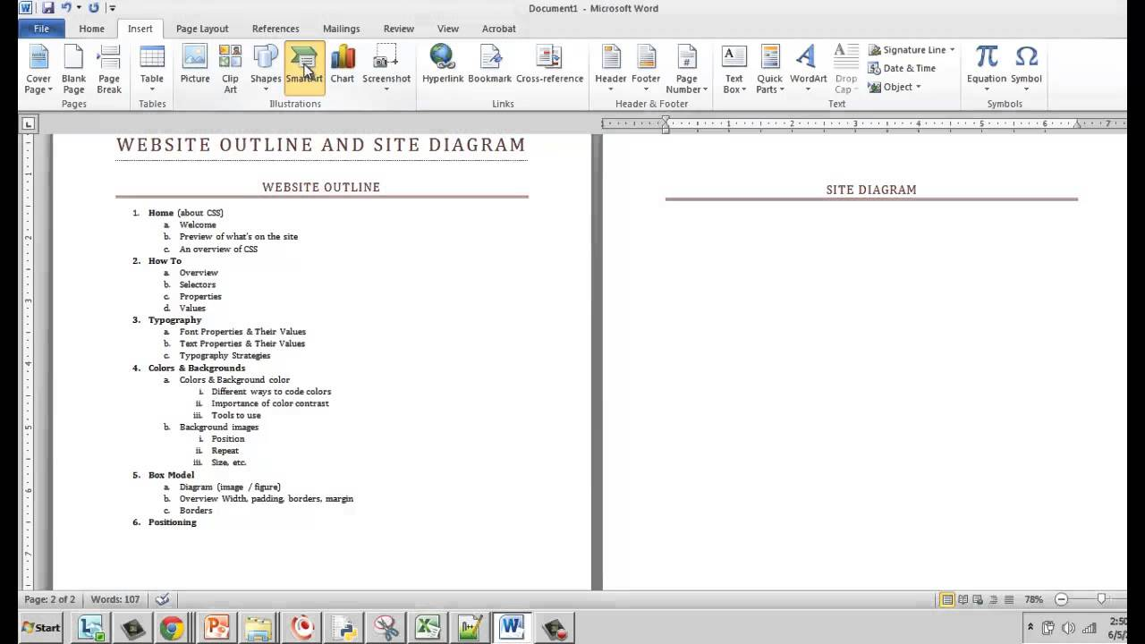 hight resolution of website diagram