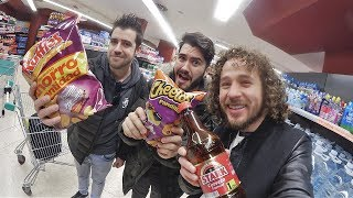 Visitando un supermercado en ESPAÑA! (ft. Wismichu y Auronplay)