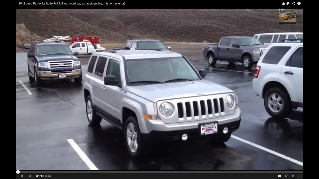 2012 jeep patriot latitude 4x4 full tour (start up, exhaust