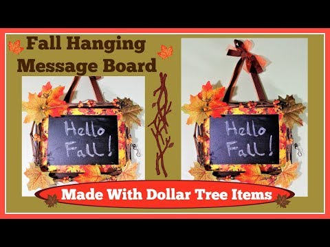 🍂Fall Decoration. Hanging Message Board Easy DIY 🍂