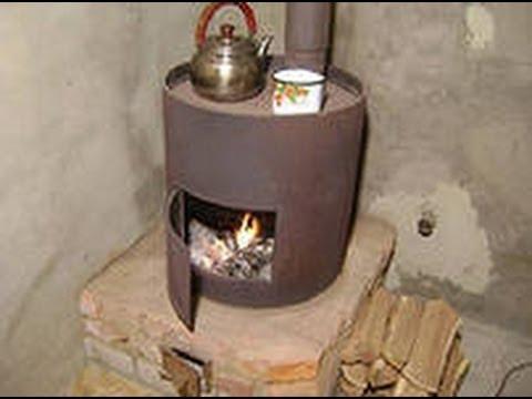 Отопление гаража обычная буржуйка