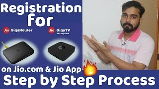 How to Register for JioGiga Fiber by jio.com & My Jio App after 15th August in 2018 ( HINDI )