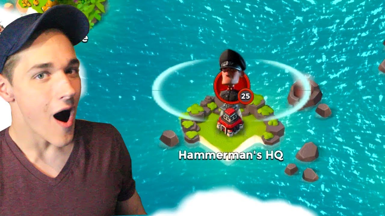 Download Boom Beach DEFEATING Hammerman HQ 25! Starting Over #4