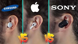 AirPods Pro VS Galaxy Buds VS SONY WF-1000XM3