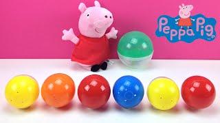 Huevo sorpresa Peppa Pig | Aprender una palabra-Cosas del colegio 3 | Learn a word in spanish