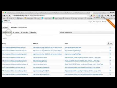 OpenLink Structured Data Editor Home Page