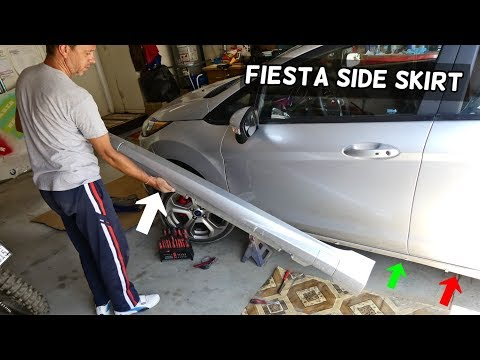 HOW TO REMOVE OR REPLACE SIDE SKIRT ON FORD FIESTA MK7 ST