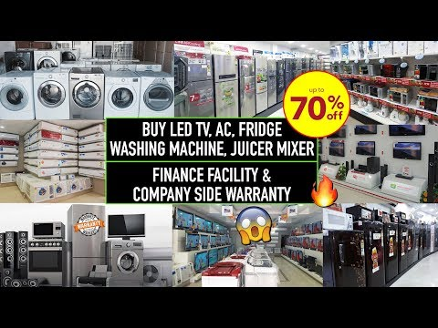 Buy Factory Second Sale Electronics At Heavy Discount | Wholesale/Retail, AC, Fridge, Juicer, Led Tv