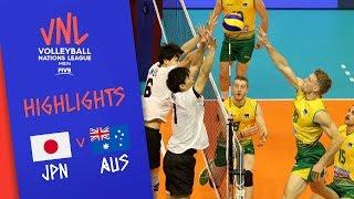 JAPAN vs. AUSTRALIA - Highlights Men | Week 3 | Volleyball Nations League 2019
