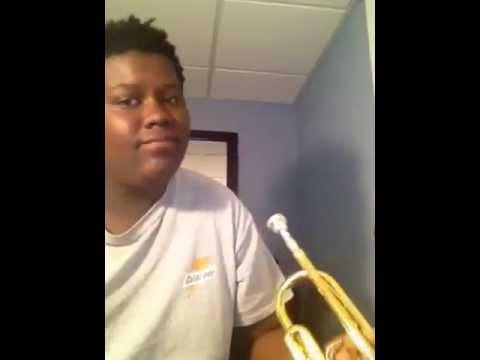 Super Mario underwater theme on trumpet