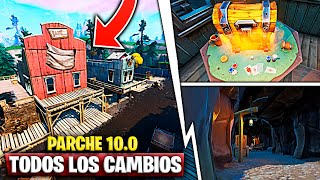 "Patch 10.0 All Secret Changes on the Map ""Chopped Villages"" Fortnite Battle Royale"