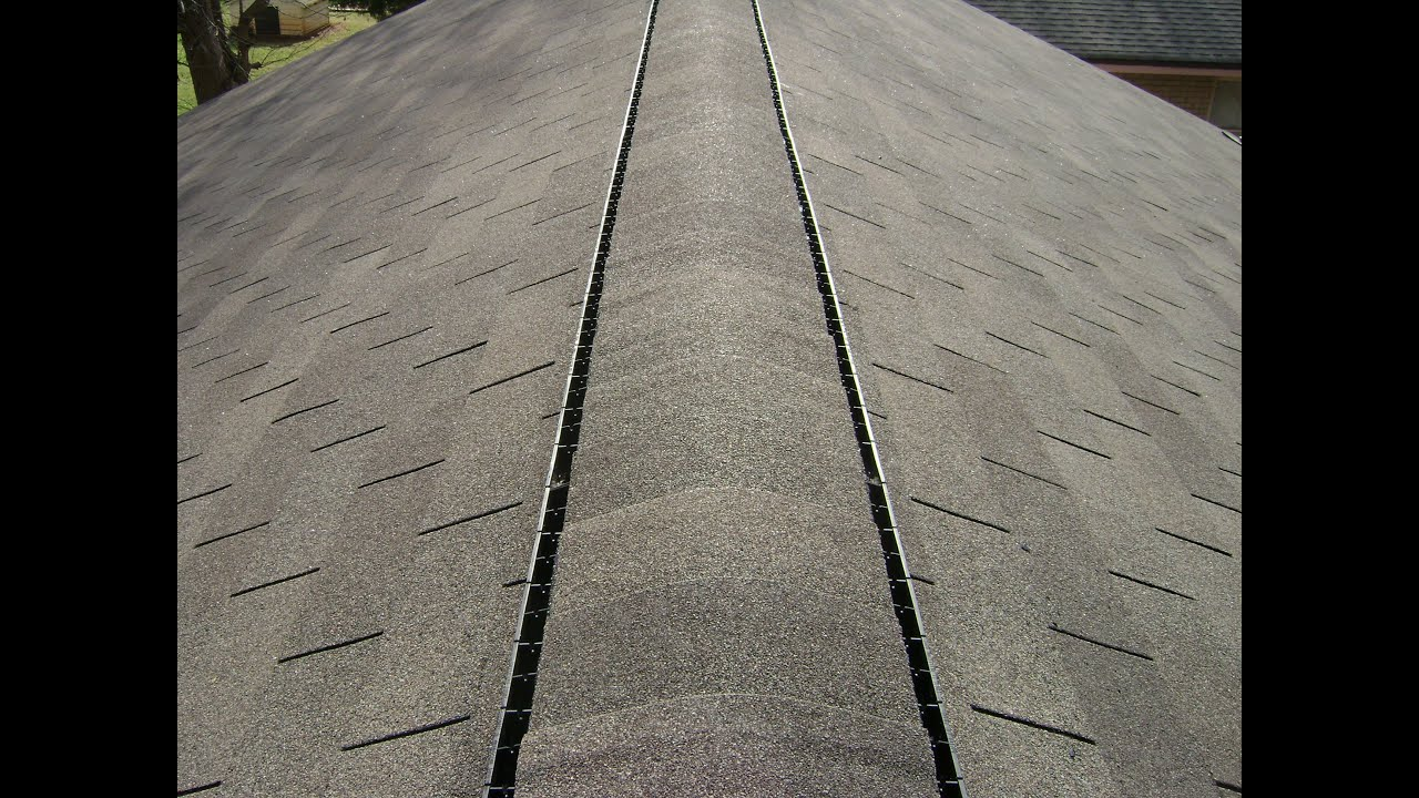 How To Roofing Capping And Installing Ridge Vent Youtube