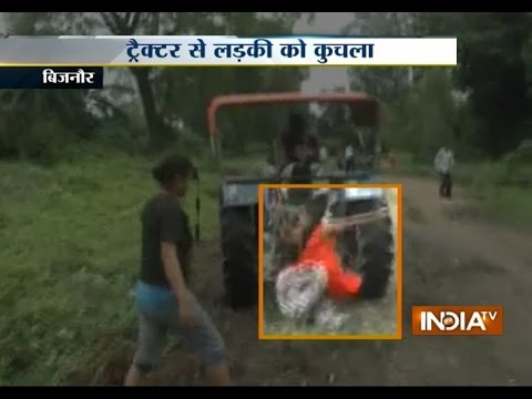 Shocking! Woman Runs Over Tractor on People in Bijnor - India TV