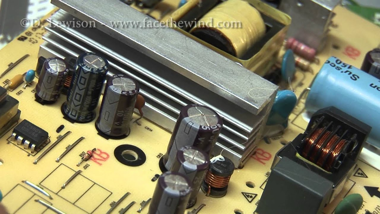 Replacing Capacitors To Repair A 22 Quot Lcd Monitor Youtube