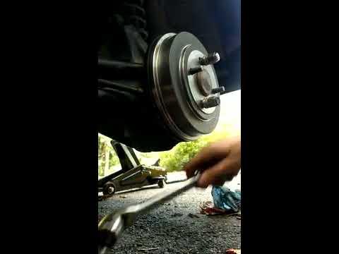 Fixing grinding brake drum rotor / backing plate scraping