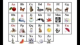 Learn English letters and words. Учим английские буквы и слова. Английский алфавит
