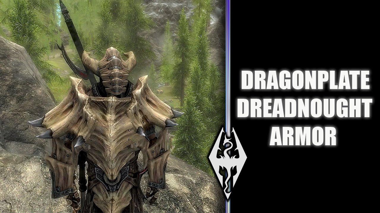 DRAGONPLATE DREADNOUGHT ARMOR!!- Xbox Modded Skyrim Mod Showcase