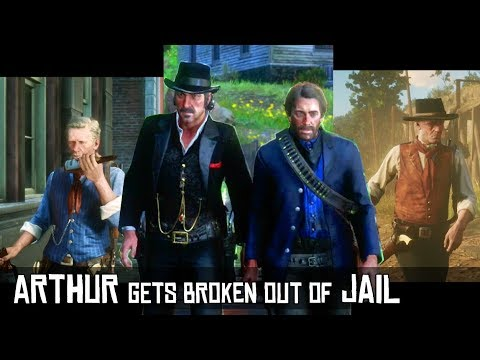 Dutch Breaks Arthur Out of Jail With Explosives while Hosea does it with Alcohol - RDR2