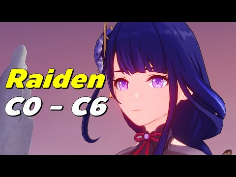 Genshin Impact | Shogun Raiden ฟาร์มของ เทส C0 - C6