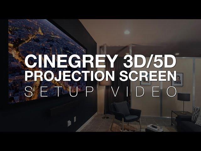 Elite Screens CineGrey 3D/5D Projection Screen Setup Instructions