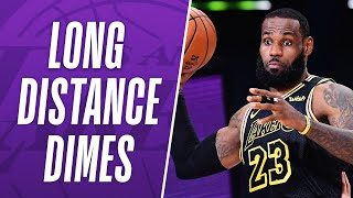 """What A Play"" LeBron's BEST Long Distance Dimes As A Laker!"