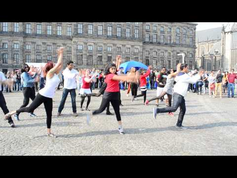 Amsterdam Dam Square Bollywood Flash Mob 20 September 2014