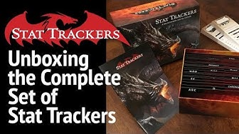 Unboxing the Complete Stat Tracker Set - the Ultimate GM Accessory for 5e