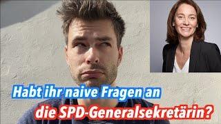 Habt ihr naive Fragen an die SPD-Generalsekretärin Katarina Barley?