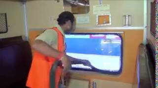 Video to Help Public : Indian Railway Emergency exit window in AC coach