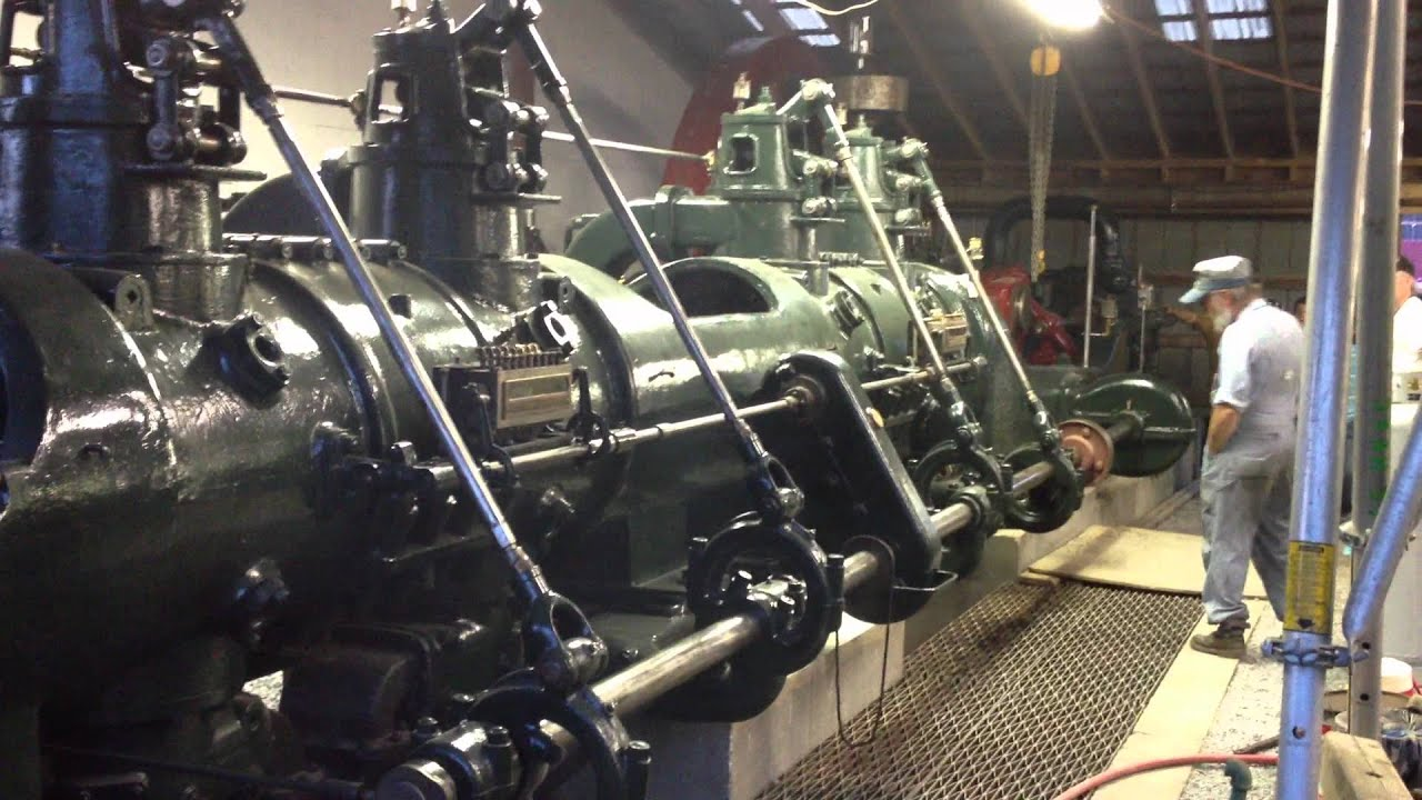 1913 Cooper 485 HP Tandem Double Acting Gas Engine pt. 1 ...