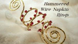 Bead & Wire Napkin Rings Video Tutorial