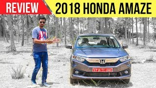 2018 New Honda Amaze Review MT & CVT (Most Detailed in Hindi)