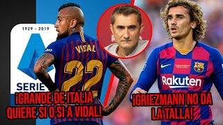 Griezmann no da la talla y Valverde lo exhibe Grande de Italia quiere a Vidal para ser campeón