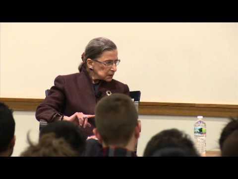 A conversation with Ruth Bader Ginsburg at HLS