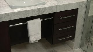 How To Add Storage To A Makeup Vanity : Bathroom Remodeling