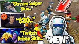 "STREAMERS REACT TO THE ""FROSTBITE"" SKIN! (DEEP FREEZE BUNDLE!) in Fortnite"