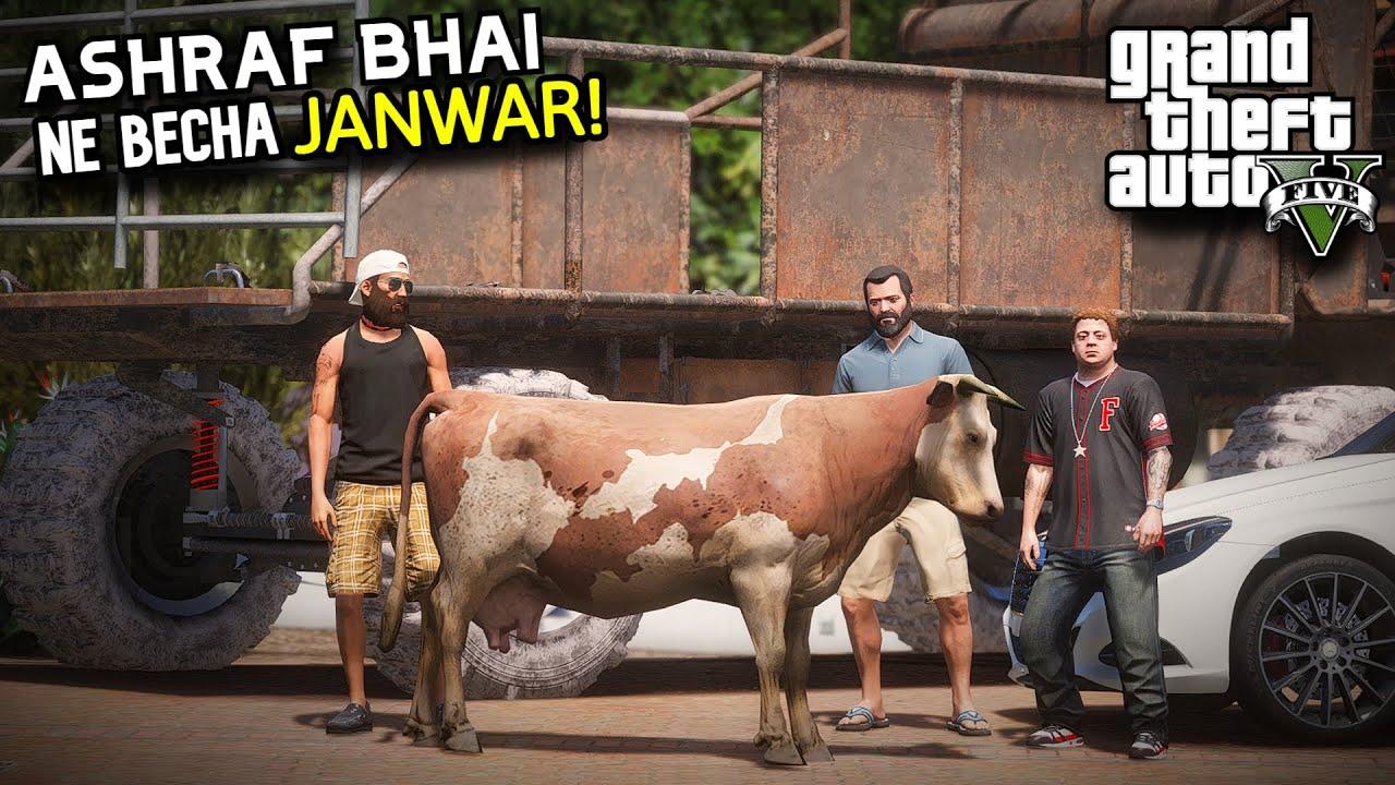 ASHRAF BHAI NE BECHA JANWAR! | FUNNY 'MANDI SERIES' BAKRA EID EPISODE 5 | GTA 5 MODS PAKISTAN