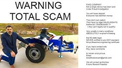 TOW ALL 5th Wheel Trailer Dolly FRAUD WARNING Scam EVERYONE has lost deposit.