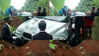 Nigerian man buried in a brand new BMW worth over Sh9 million