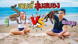 [ งู VS แมงมุม ] แข่งปิดตาสุ่มสยอง หาของในบ่อทรายยักษ์ | พี่เฟิร์น 108Life