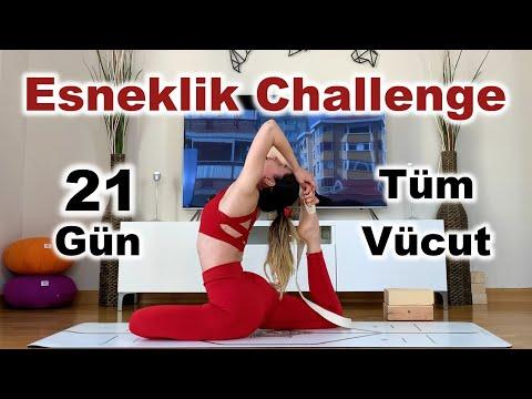 21 Gün Yoga Esneklik Challenge!   Tüm Vücut İçin Sıfırdan İleri Seviye Esnekliğe Giden Yol