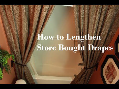 How To Lengthen Store Bought Drapes