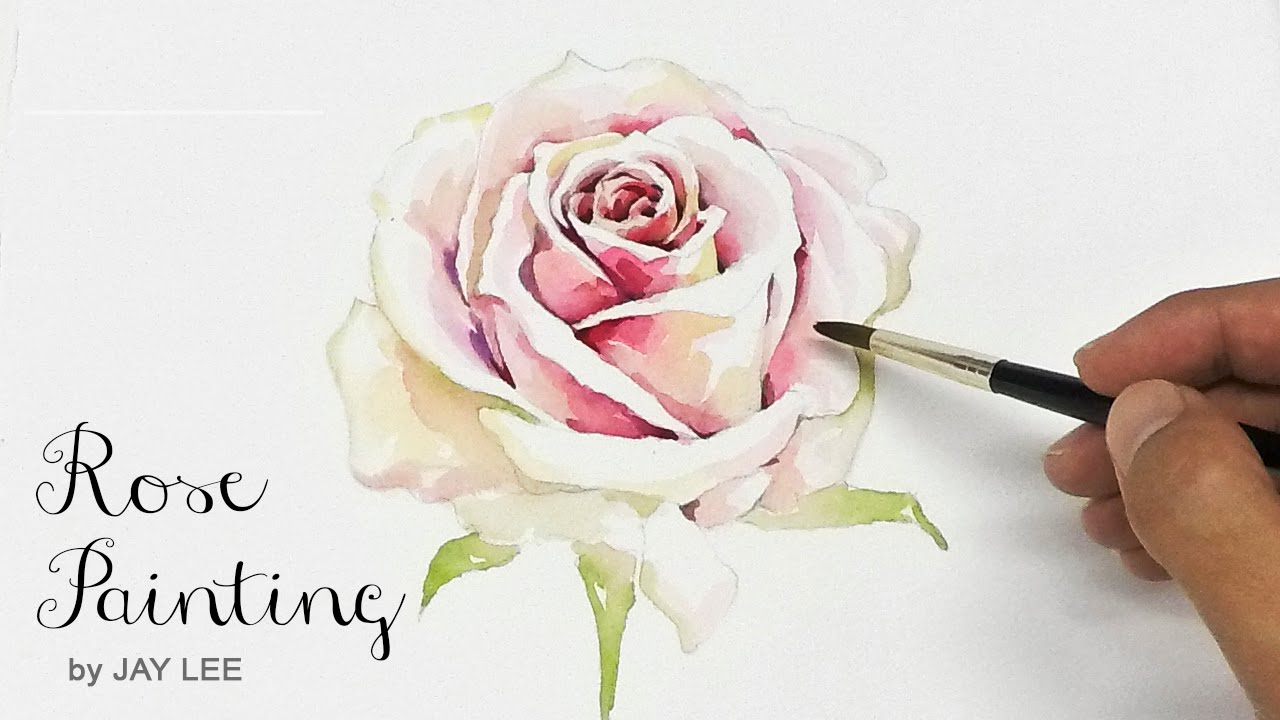How to paint a rose tutorial youtube for Easy way to paint a rose